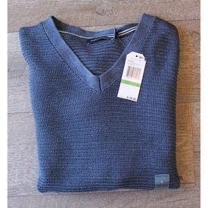NEW Nautica Linen Blend Blue Sweater L $128 Men's
